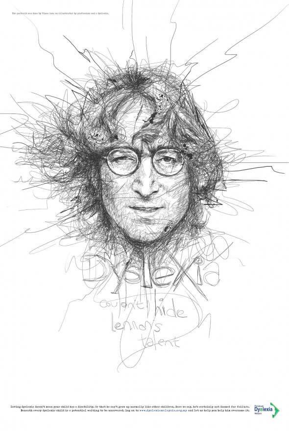La dislexia no podía ocultar el talento de Lennon