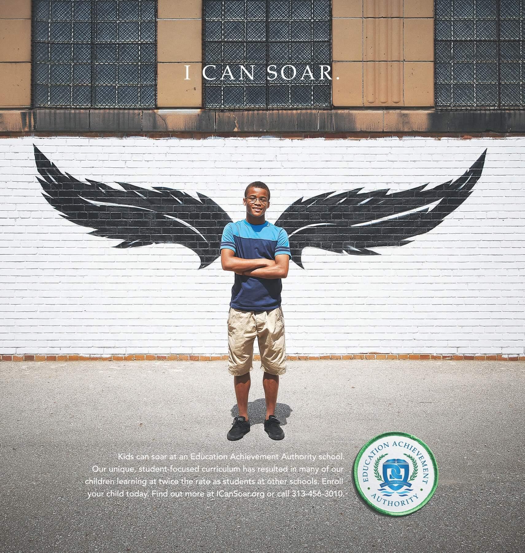 """I can soar"""