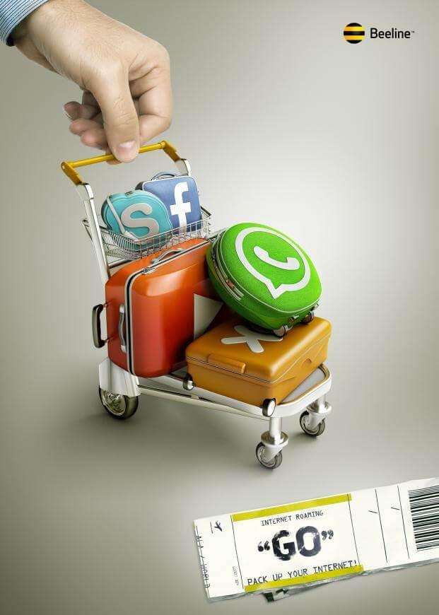 """#CuandoLaPublicidad: Pone las """"maletas""""."""