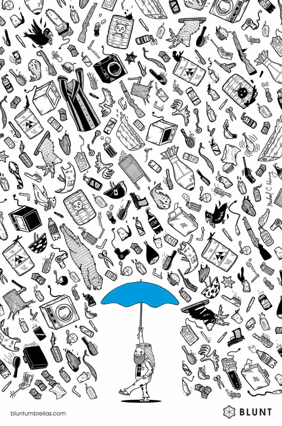 Blunt Umbrellas: Protección garantizada.
