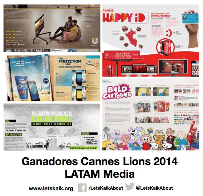 Lista de algunos ganadores América latina categoría: Media Cannes Lions 2014.