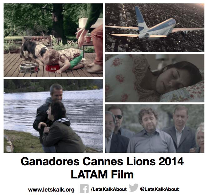 Lista de algunos ganadores América latina categoría: Film Cannes Lions 2014.