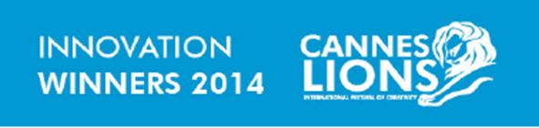 Lista de ganadores categoría: Innovation Cannes Lions 2014.