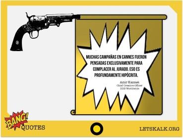 """#BangQuotes: """"Muchas campañas en Cannes fueron…"""