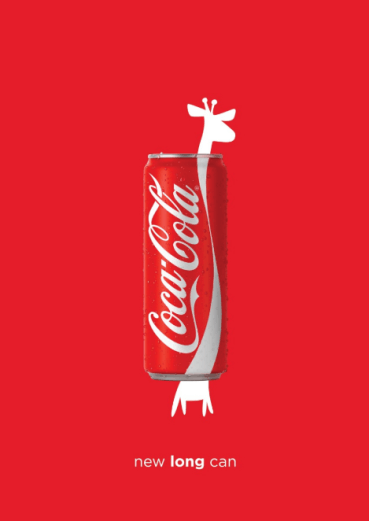 Coca-Cola: Largo tamaño.