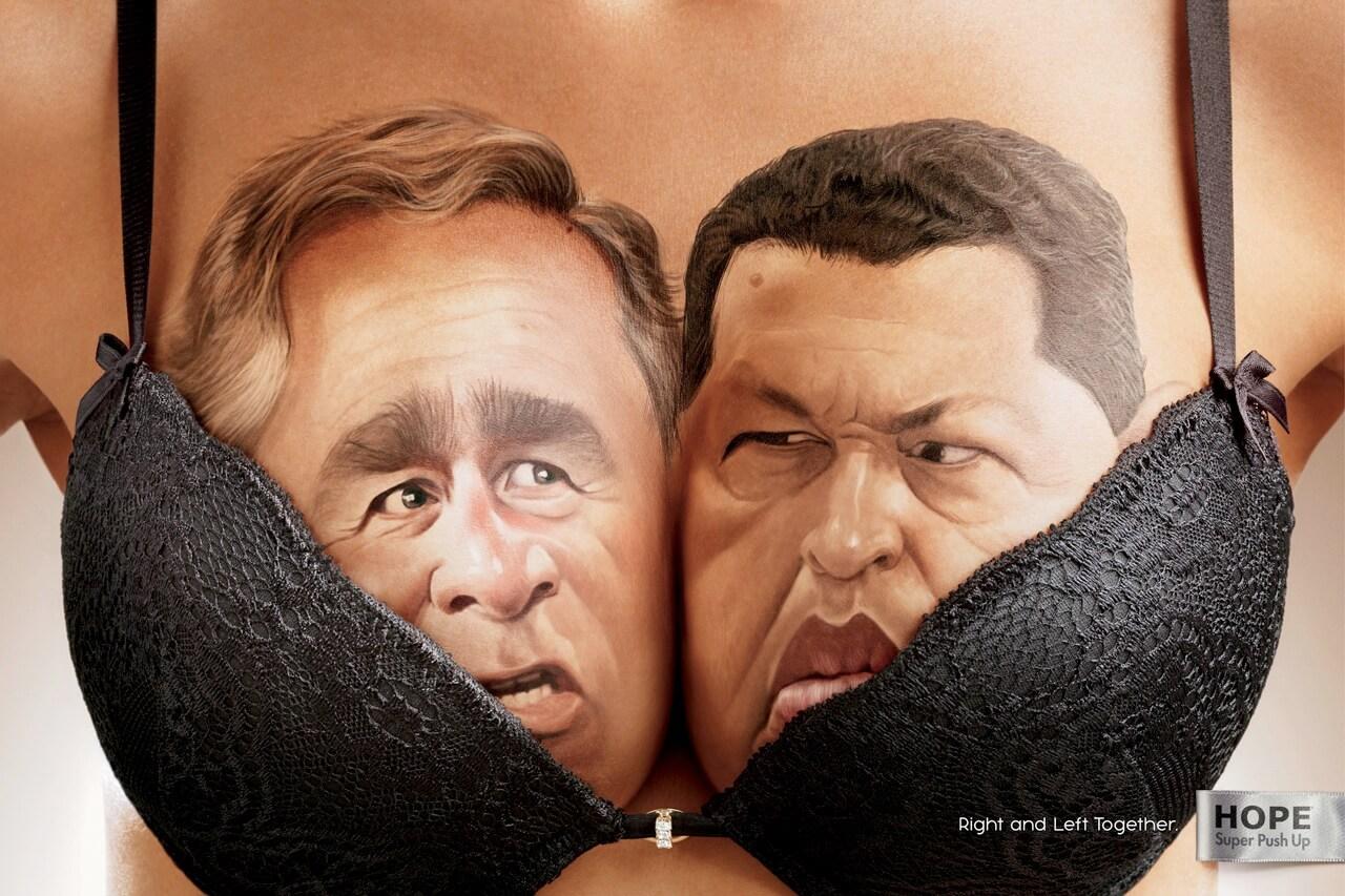 ¿Chávez y Bush unidos por un sostén?
