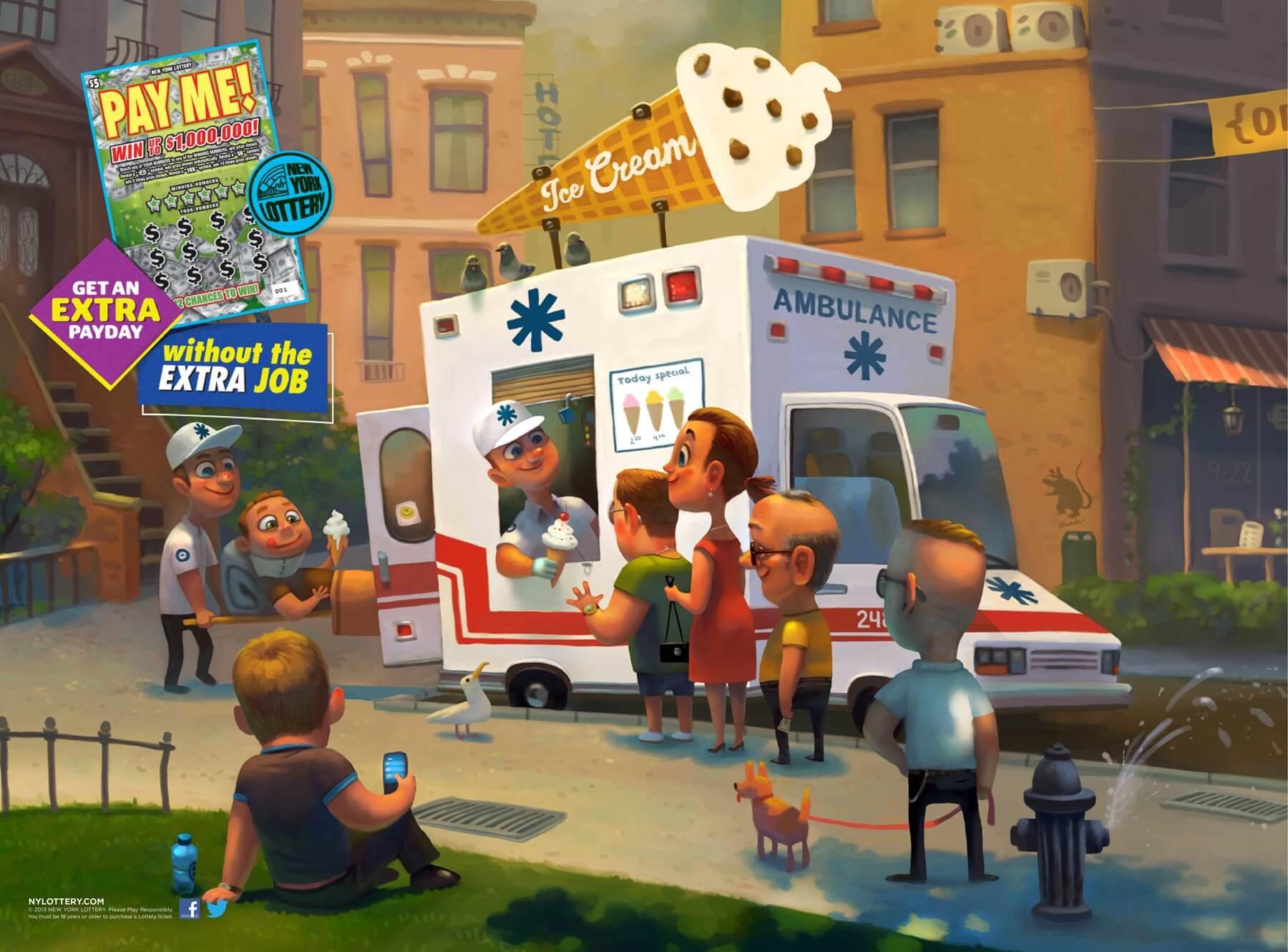 Qué tal una… ¡Camioneta de helados-ambulancia!