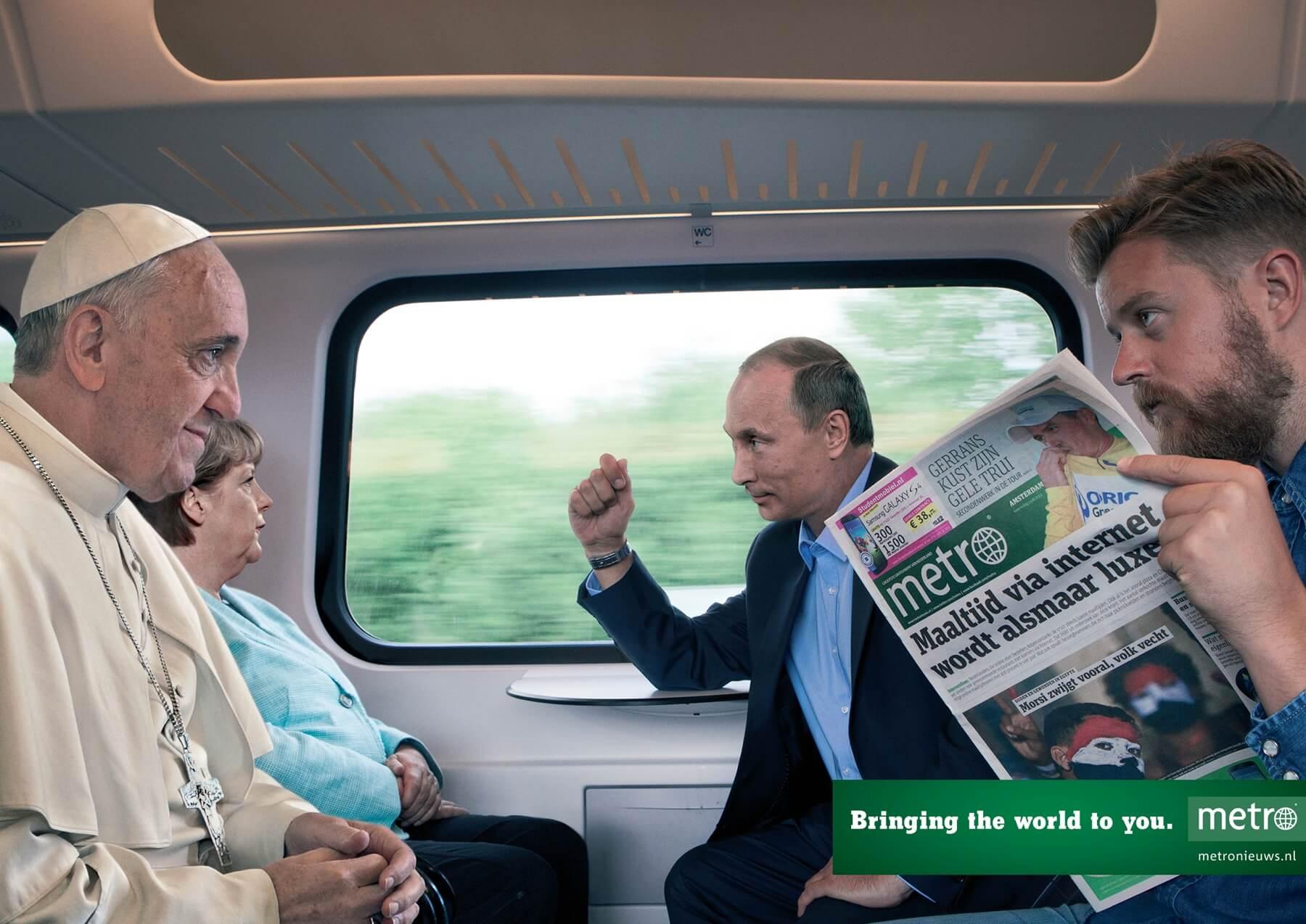 #CuandoLaPublicidad ¡Pone al papa en tu vagón!