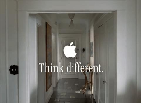 El emblema de Apple.