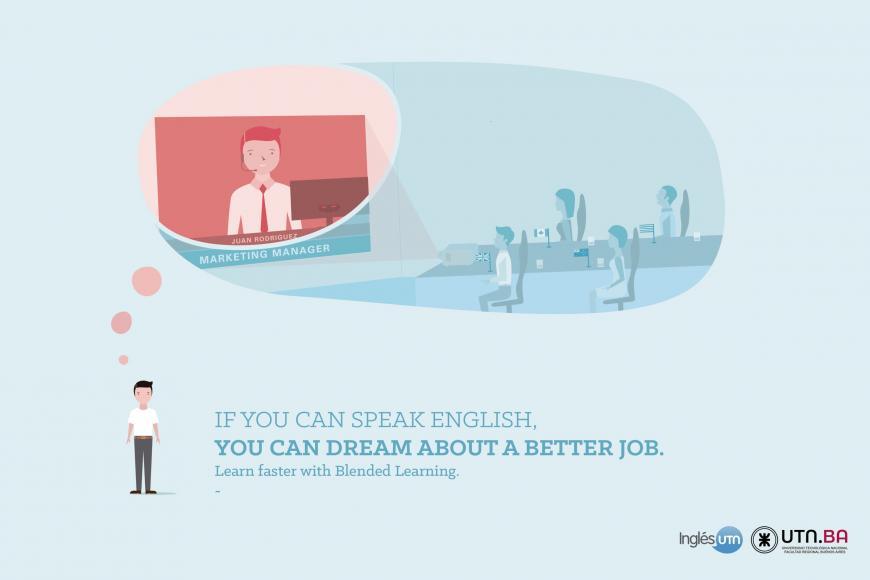 Inglés UTN: Aprendiendo inglés tu abanico de oportunidades se expande.