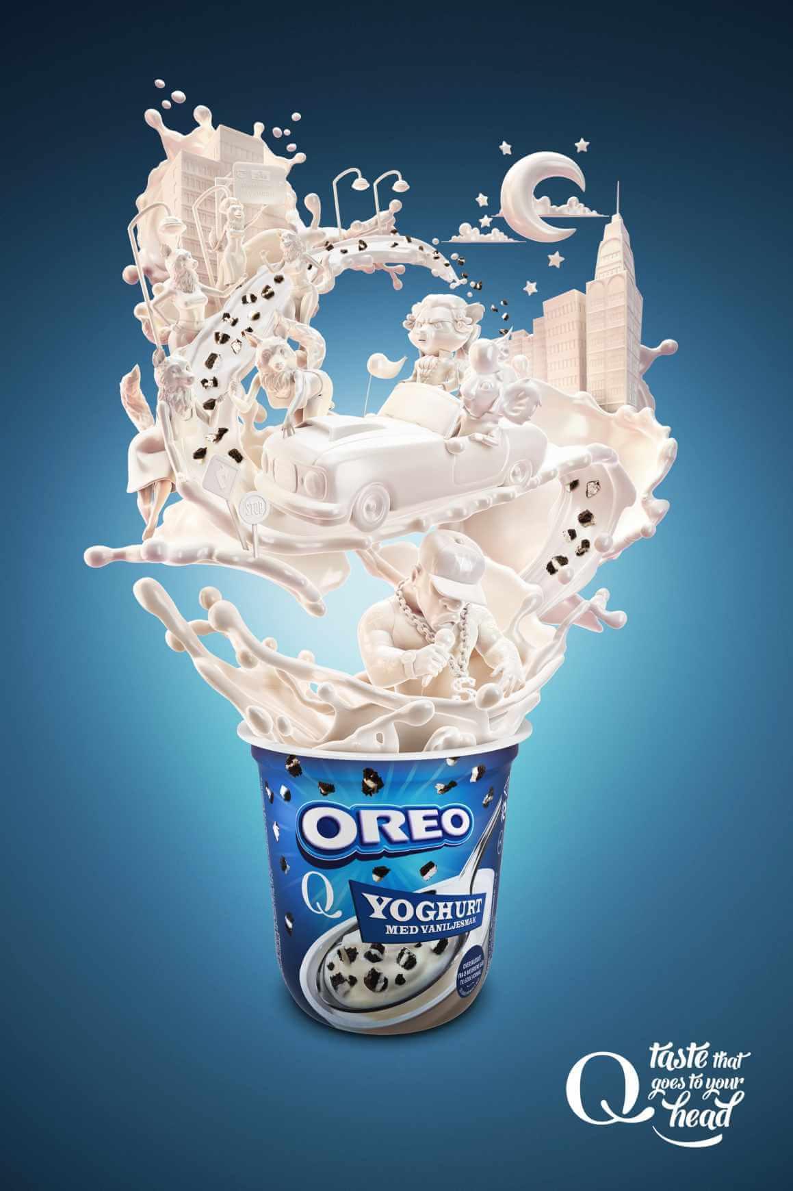 Yogurt Q-Meieriene, sabores que hacen imaginar.