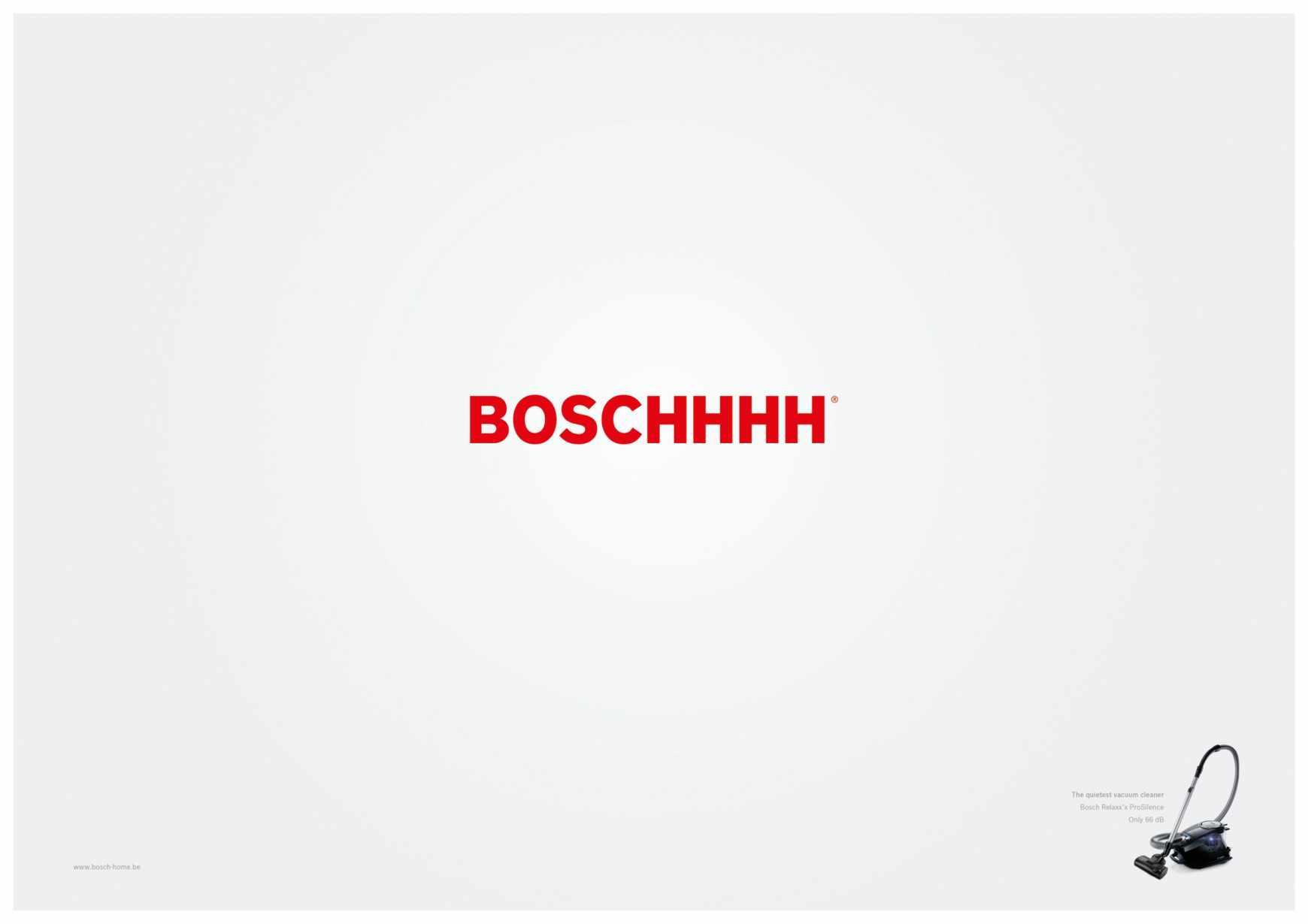 Bosch la aspiradora silenciosa.